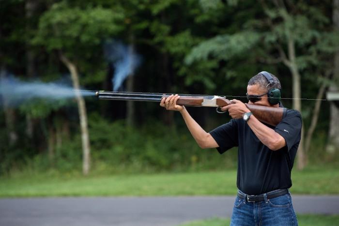 Obama's line of sight