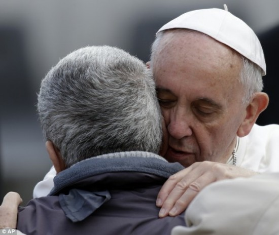 Pope Francis personal touch