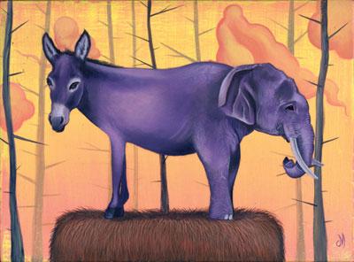 donkey and elephant
