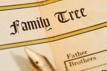 Family tree record in a family bible